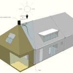 Eco- concept voor uitbreiding van woning in Andijk